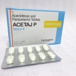 Aceclofenac And Paracetamol Tablets 100mg & 325mg ACETAJ P