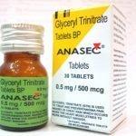 Anasec-glyceryl trinitrate tablets