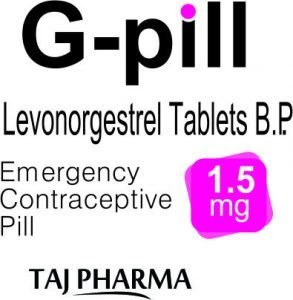 Levonorgestrel 1.5mg Tablets - G-pill by Taj Pharma