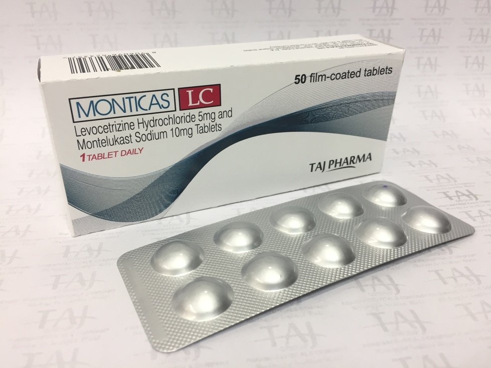 LEVOCETIRIZINE HYDROCHLORIDE 5MG AND MONTELUKAST SODIUM 10MG TABLETS (MONTICAS LC) USP TABLETS