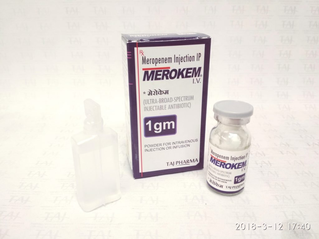 Merokenm (Meropenem) 1 g powder for solution for injection & infusion