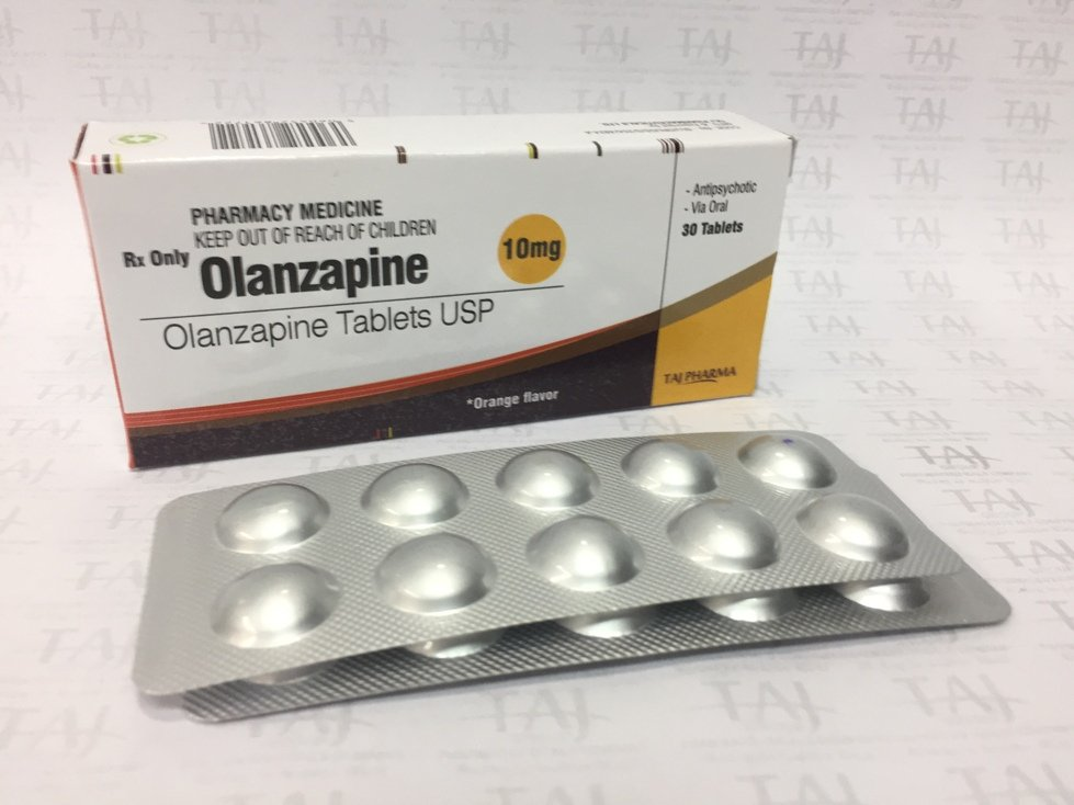 OLANZAPINE 10MG TABLETS USP
