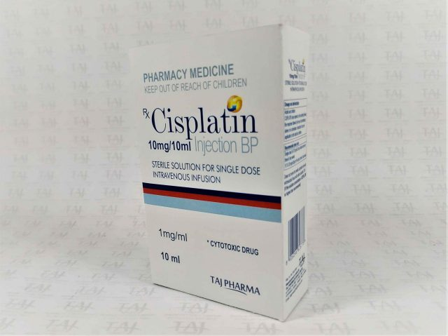 Cisplatin injection BP 10mg/10ml Taj Pharma India