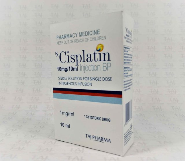 Cisplatin injection BP 10mg/10ml Taj Pharmaceuticals