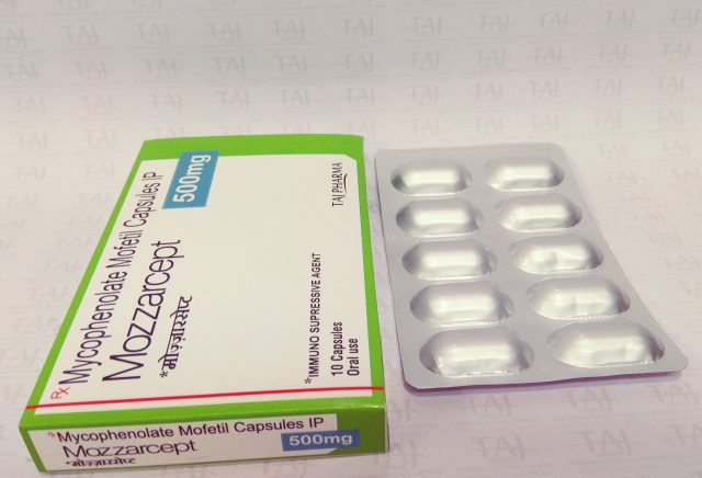 Mycophenolate Mofetil 500mg Capsules (Mozzarcept 500)