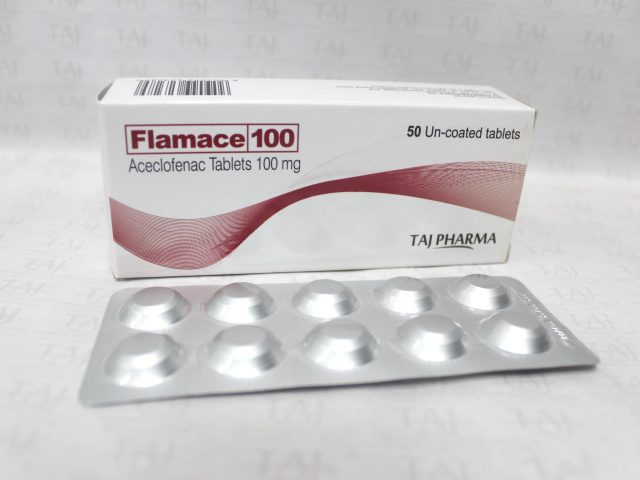 Aceclofenac Tablets 100mg Taj Pharma