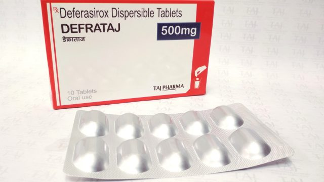 Deferasirox Dispersible Tablets 500mg (DEFRATAJ) Taj Pharma