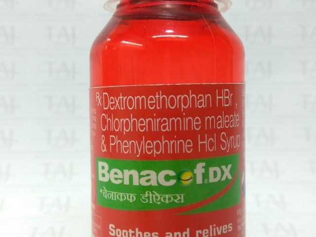 Benacof Cough Syrup – Chlorpheniramine, Phenylephrine, and Dextromethorphan Syrup