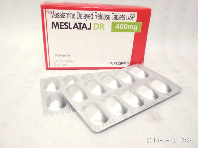 Mesalamine Delayed-Released Tablets USP 400mg Taj Pharma
