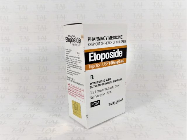 Etoposide Injection USP 100mg/5ml Taj Pharma