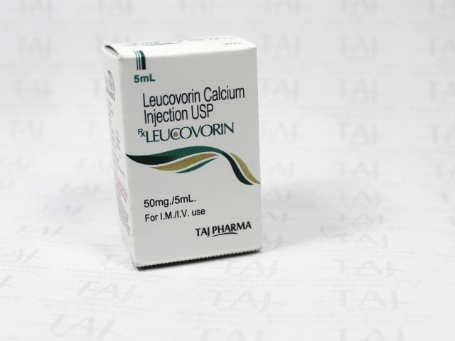 Leucovorin Calcium Injection USP 50mg/5ml Taj Pharma