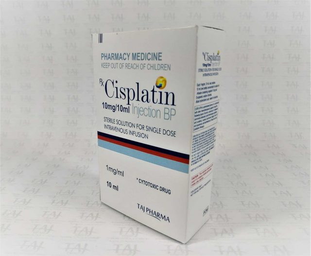 Cisplatin Injection BP 10mg/10ml infusion Taj Pharma