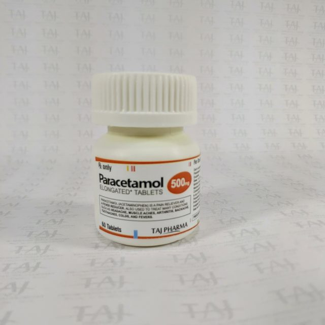 Paracetamol Tablets B.P. 500mg Taj Pharma