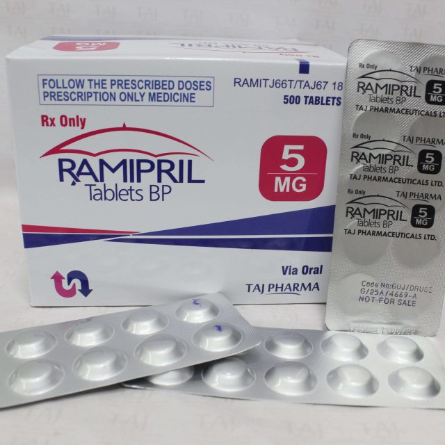 Ramipril Tablets BP 5mg (Taj Pharma)