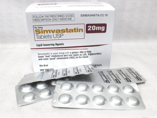 Simvastatin Tablets USP 20mg Taj Pharma