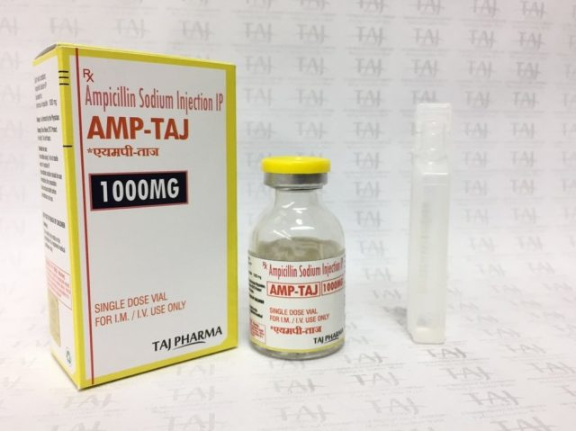 Ampicillin Sodium Injection IP 1g (AMP-TAJ) Taj Pharma